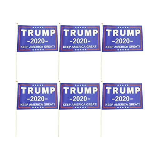 PRETYZOOM 2020 Handflaggen Trump Flag United States Präsidentschaftswahl Zubehör Bunting Trump Flag Tragbares Banner (14x21cm) for Party Supplies