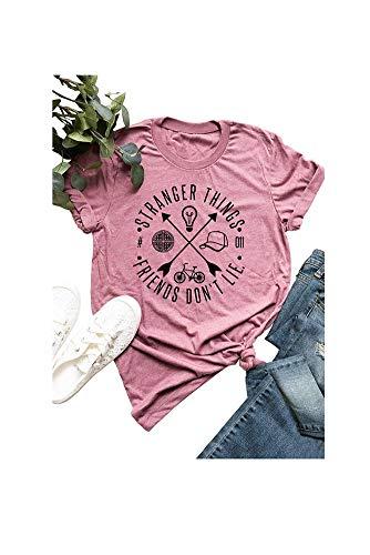 Camisa Vintage de los años 80 con Texto en inglés Stranger