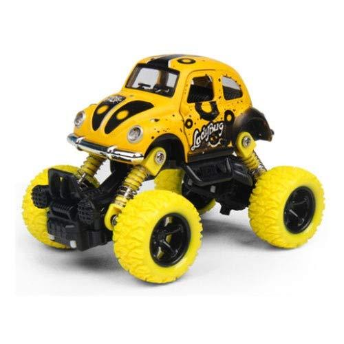 Xolye Legierung Spielzeug Auto 4-Rad-Antrieb Zug zurück Geländefahrzeug Kinder Mountainbike Spielzeug Inertialtür Zubereitbare Anti-Herbst-Spielzeug Auto Geschenk (Color : Yellow)