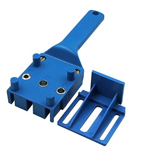 Plantilla De Clavija Para Carpintería, Herramientas De Sierra De Taladro De Madera De Mano Para Taladro Con Guía De Taladro De 6 Mm 5/16'3/8',Azul