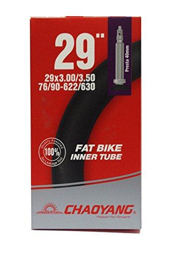 MSC Bikes Bike Tube Cámara De Aire Fat, Negro, 29 x 3,0/3,5 FV