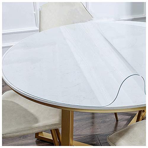 Mantel redondo de TPU, resistente al aceite, resistente a las manchas, lavable para mesa, escritorio, cualquier superficie necesaria, protección