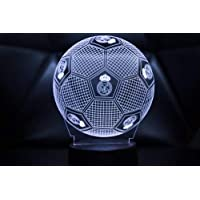 3D LAMPARAS Oficial Balon del Real Madrid Lámpara 2019-2020 Pelota para Bebe niño Kids Hombre Mujer Mejor Decoracion para hogar Original Accesorios