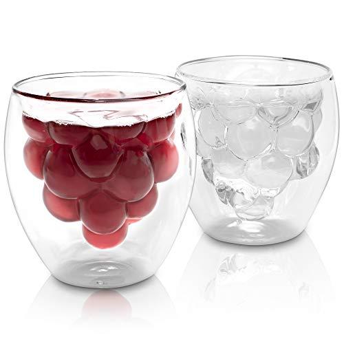 Lutopic Doppelwandige Gläser Set [Mundgeblasen] – Teeglas, Cocktailglas, Saftglas, Kaffeeglas, Kinderglas, Geschenk, Tee Geschenkset, Thermogläser