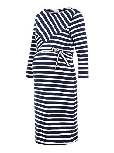 Mamalicious Mlselina 3/4 Jersey Abk Dress A. Robe, Multicolore, 44 (Taille Fabricant:) Femme