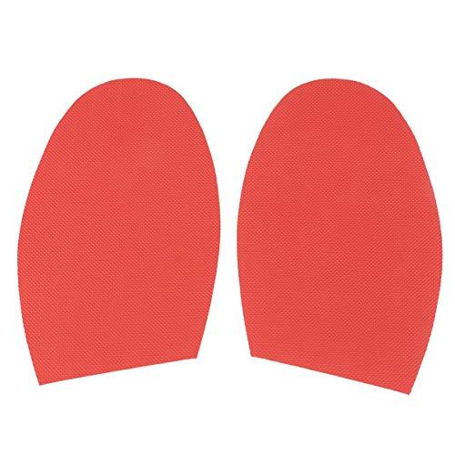 Supvox Gummi Rutschfeste Sohle Selbstklebende Anti Rutsch Sohle Pads Aufkleber für Schuhe Vorfuß schuzt Ihre Leder Schuhe (Rot)
