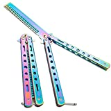 2 Pieces Colorful Butterfly Combs Stainless Steel Folding Training Practice Combs Hair Styling Tools for Sport Outdoor Use