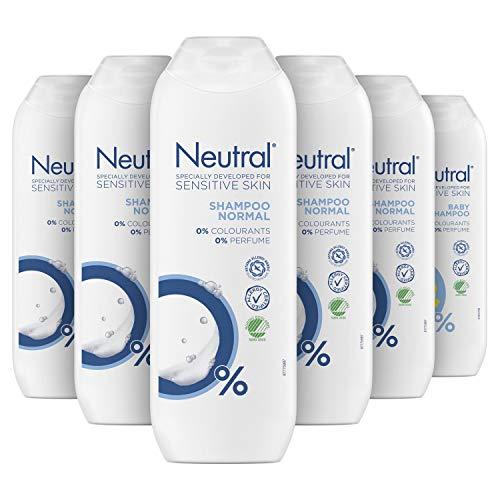 Neutral 0% Shampoo Parfumvrij 6 x 250 ml Voordeelverpakking