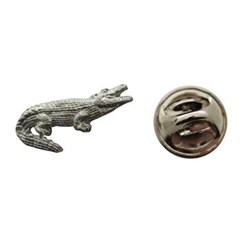 Alligator Mini Pin ~ Antiqued Pewter ~ Miniature Lapel Pin ~ Sarah's Treats & Treasures