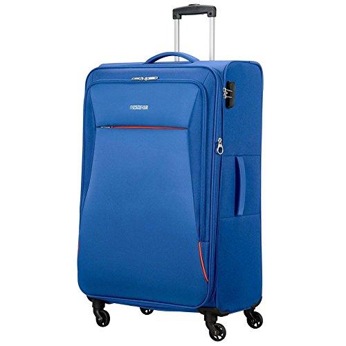 American Tourister 89727-1971 bolsa de equipaje Tranvía Negro, Azul Poliéster - Bolsa de viaje (Tranvía, Negro, Azul, Poliéster, 4 rueda(s), Cremallera, 1 pieza(s))