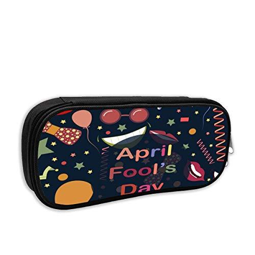 BFGTH Divertido April Fool 's Day Estuche para lápices Rectángulo Bolígrafo para...