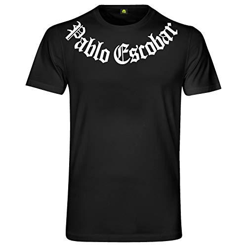 Pablo Escobar T-Shirt | Kokain | Emilio | Mafia | Drogen Kartell | Kolumbien Don Schwarz XL