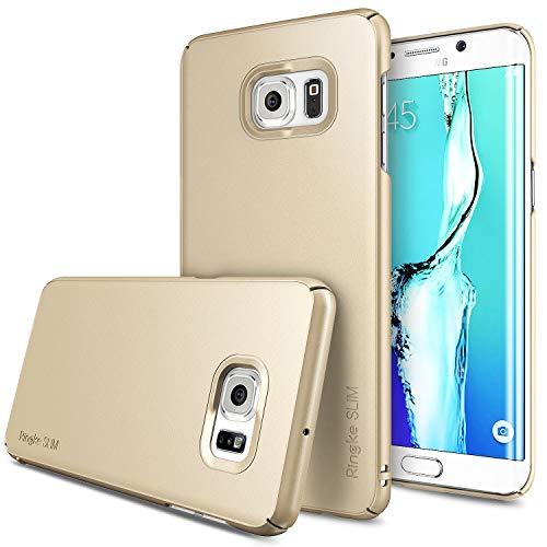 Ringke Slim Kompatibel mit Galaxy S6 Edge Plus Hülle Enganliegendes Handyhülle Ultradünnes PC Hartschalen Cover Fortgeschrittener Beschichtung für Galaxy S6 Edge Plus Schutzhülle Case - Royal Gold