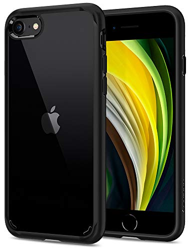 Spigen Ultra Hybrid 2 Kompatibel mit iPhone SE 2020 Hülle, iPhone 8/7 Hülle Einteilige Transparent Schutzhülle Hülle Black 042CS20926