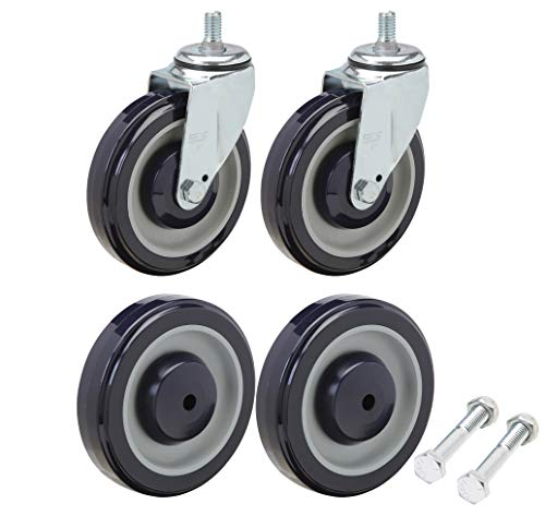 Shopping Cart Wheel and Caster Replacement Kit Including All Hardware