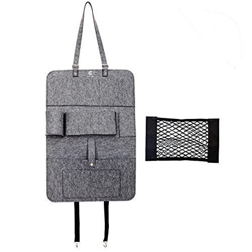 Coplea - Organizador de accesorios para autocaravana, protector de asiento de coche, protección para el respaldo del asiento del coche