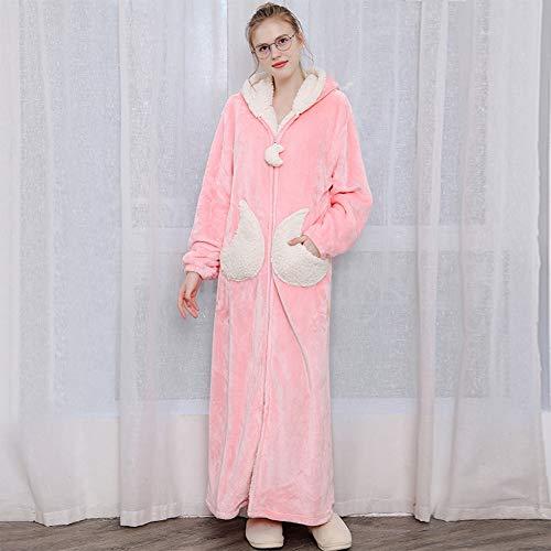 ZZUU Badjas Kimono, Unisex, Luxe Zachte Rits Robes Lange Mouw Kimono Badjas Met Pocket