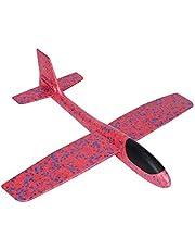 Zerodis Kids Airplane Toy Foam Throw Glider Przenośny Odkryty Dzień Dziecka Prezent Urodzinowy (Czerwony)