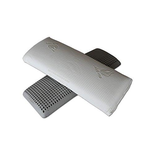 Ventadecolchones - Almohada Viscoelástica de Carbono Perforada, 135 cm