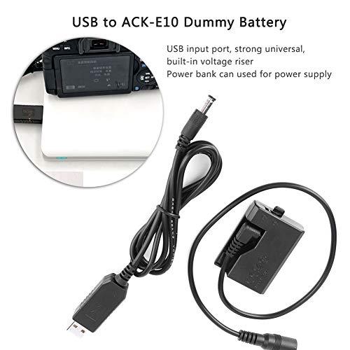 Bateria-simulada-para-camara-USB-a-ACK-E10-Adaptador-de-fuente-de-alimentacion-de-acoplador-de-CC-totalmente-decodificado-para-Canon-EOS-Rebel-T3-T5-T6-T7-T100-1100D-1200D-1300D-2000D-4000D-KissX50-K