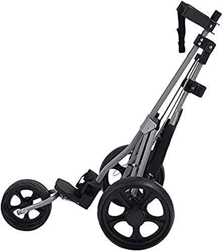 Carrito de golf 3 ruedas 360 giratorio 3 ruedas carrito de golf con 3 ruedas giratoria 360, un segundo para abrir y cerrar carrito plegable, carrito plegable