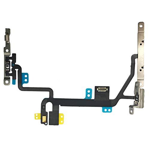 OnlyTech - Power Button Flex-Kabel mit Lautstärkeregler, Stummschalter, Blitz & Mikrofon mit Halterung kompatibel mit iPhone 8