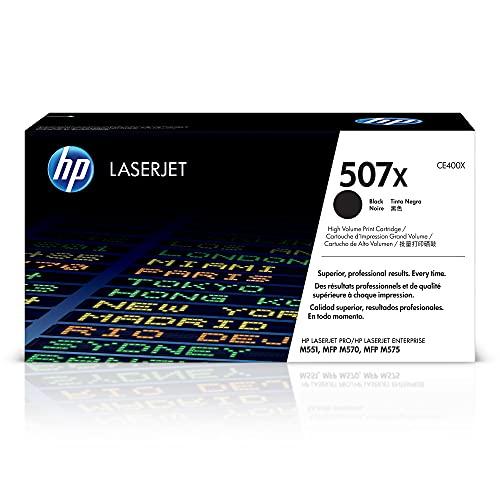 HP 507X (CE400X) cartucho de tóner negro, de alto rendimiento, original LaserJet.