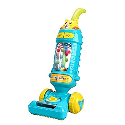 FS Kids Vacuum Cleaner Toy for Toddler with Lights & Sounds Effect & Ball-Popping Action – Pretend Pay Housekeeping Toys Great Gifts for Toddlers, Boys and Girls, Ages 3 4 5 6 from FIVESTAR TOYS