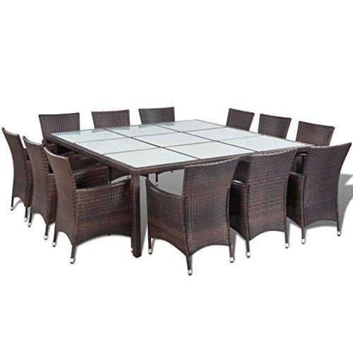 vidaXL Essgruppe Poly Rattan Braun Gartenmöbel Set Sitzgruppe Gartenset Lounge