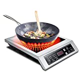 <span class='highlight'><span class='highlight'>DAETNG</span></span> Portable Ceramic Hot Plate, Single Electric Hob, Infrared Cooktop Electric Hob for Home, Commercial, Camping, Caravan Cooking, Black Crystal Panel, 3500W,A