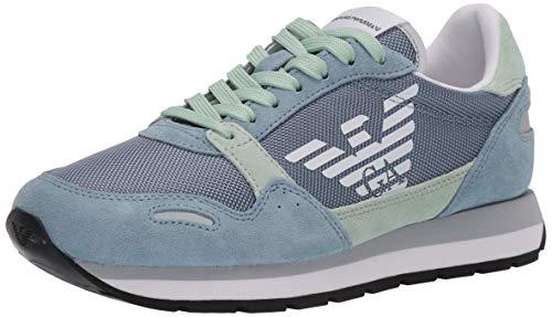 Emporio Armani Sneakers für Damen, Hellblau, Grün, X3X058XL481R, Blau - hellblau - Größe: 36 EU