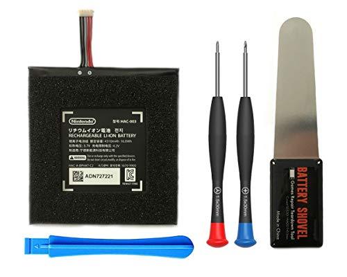 ElecGear 1x Batería de Repuesto para Consola Switch, HAC-003 Batería de Iones de Litio Recargable para Nintendo Switch HAC-001, 3.7V 4310mAh 16.0Wh con Kit de Herramientas de Reparación
