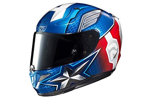 HJC Unisex-Adult Full Face RPHA-11 PRO Marvel Captain America Motorcycle Helmet (Red/White/Blue, Small)