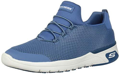 Skechers Women's Marsing-Waiola Health Care Professional Shoe, Blue, 8 W US