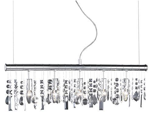 Wofi 725805010000 Crystal - Lampadario a sospensione 5 L 40 W E14, colore: Cromato