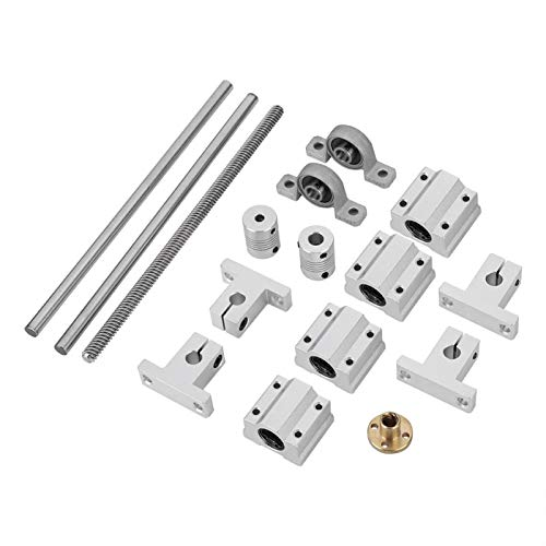 Gonnely Screw Rod Kit 15PCS Printer Assembly Accessories for T-8 Guide Screw Rod Kit Coordinate Measuring Tool Set