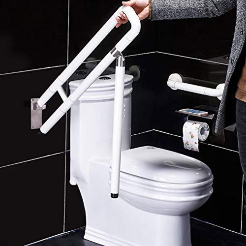 JMUNG Haltegriff faltbar in der Wand für Behinderte Badezimmer Komfort Barrierefrei Senioren Reha Physio,Weiß