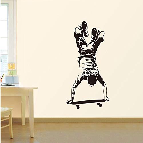 Dass Wand-Aufkleber Inverted Skateboard Sport-Wand-Aufkleber for Kinder Boy Zimmer Dekoration Wohnzimmer-Wandaufkleber Aufkleber Home Wallpaper