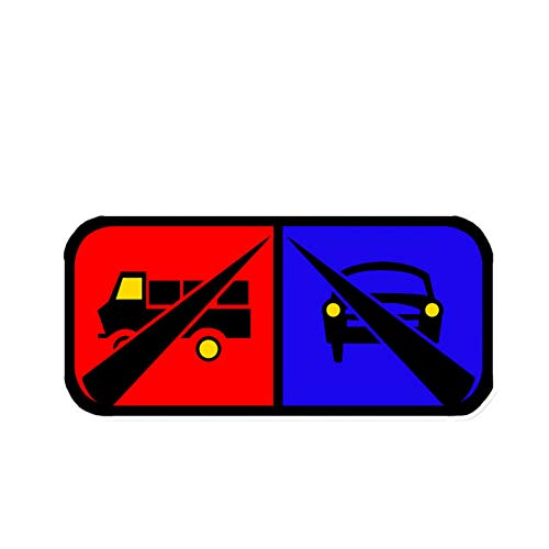 SUIFENG Selbstklebend Aufkleb 13.1 X 13.1 cm Warnschild Verbieten Vorsicht Vor Stolpern Autoaufkleber Zubehör