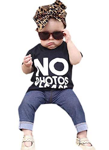 Complete Girl - No Photo Please - strój dla dziewczynki - T-shirt - T-shirt - T-shirt - krótki rękaw - zabawny - spodnie - legginsy - dżinsy - wczesne dzieciństwo - pomysł na prezent świąteczny i urodzinowy