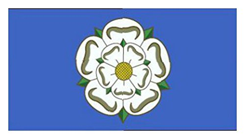 rose d'Yorkshire (nouveau design) DRAPEAU 3ft x 2ft