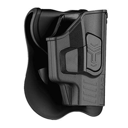 Sig P365 Holsters, OWB Holster for Sig Sauer P365 Micro-Compact Size 9mm, P365 XL, P365 SAS, Polymer Tactical Outside The Waistband Carry Belt Holster with 360° Adjustable Paddle -Right Handed