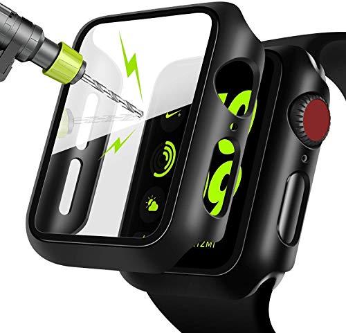 Jiamus for Apple Watch 44mm Series 5/4 Hülle mit Displayschutz, 360° Rundum Schutzhülle Ultradünne Schutz Case für iWatch Serie 5 / Serie 4 44mm
