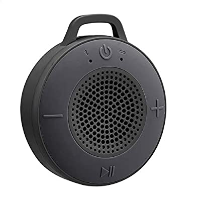 Amazon Basics Wireless Shower Speaker with 5W Driver, Suction Cup, Built-in Mic - Gray from Amazon Basics