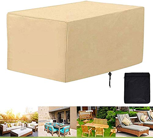 UMBRANDED Protective Cover for Garden Furniture, Protective Cover for Garden Furniture for Garden Table, Furniture Sets, Rectangular. 200x100x100cm/79x39x39in 米色