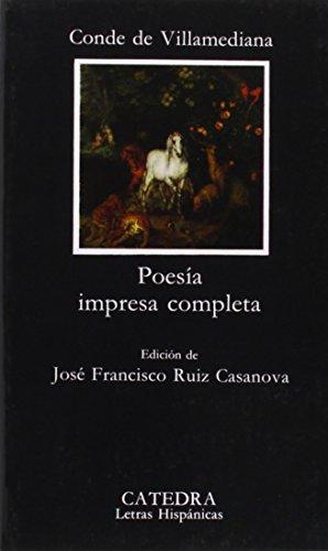 Poesía impresa completa (Letras Hispánicas)