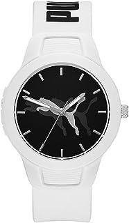 PUMA Damen Reset V2 Three-Hand, Weiß Polycarbonate Uhr, P1048