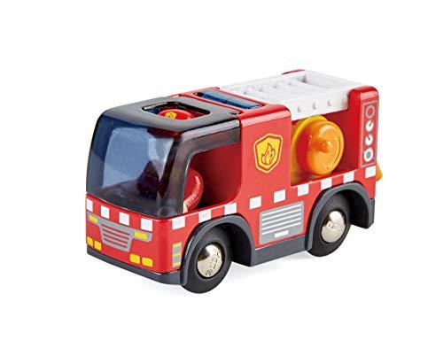 Hape E3737 E3737-Feuerwehrauto mit Sirene,...
