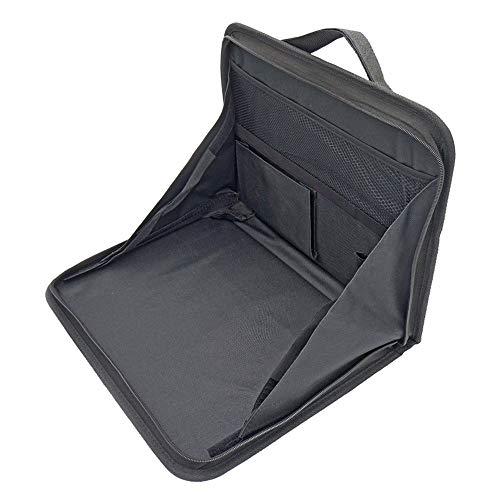 AILOVA - Organizador de coche portátil, bolsa de almacenamiento para el asiento trasero y la bandeja de almacenamiento plegable con múltiples bolsillos de almacenamiento y soporte para bebidas