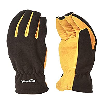 AmazonBasics Cold Proof Thermal Winter Work Gloves, Yellow, XXL